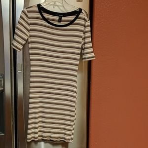 Stripe Fitted Dress - Size S